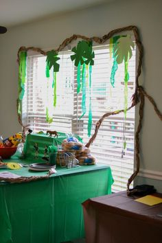 Wild Kratts Birthday Party - The Well Planned Mama Jungle Decorations, 50th Birthday Party Decorations, Diy Party Decorations, Combined Birthday Parties, 6th Birthday Parties, Diy Birthday, Birthday Ideas, Wild Kratts, Animal Party