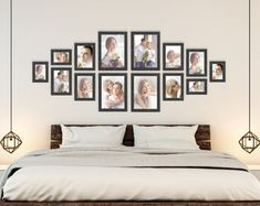 Gallery Wall Layout, Gallery Wall Frames, Frames On Wall, Ikea Gallery Wall, Photo Wall Layout, Photo Wall Design, Gallery Frame Set, Rustic Gallery Wall, Wall Frame Set