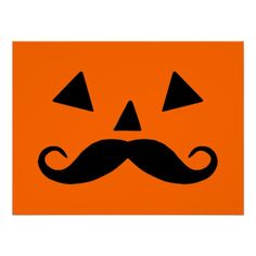 Shop Pumpkin Moustache Postcard created by Personalize it with photos & text or purchase as is! Halloween Fonts, Halloween Clipart, Halloween Birthday, Halloween Cards, Holidays Halloween, Vintage Halloween, Halloween Pumpkins, Happy Halloween, Halloween Decorations