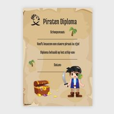 Piraten Diploma Pirate Hat Crafts, Pirate Birthday, Diy Toys, School, Stage, Activities, Travel, Hilarious, Kid Games