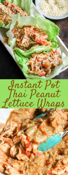 These Thai Lettuce Wraps can be made with pork or chicken and make the perfect weeknight dinner. Healthy, easy, quick, and SO DELICIOUS, your family is going to LOVE these!