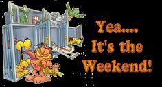 happy weekend gif | Animated gif of Garfield releasing pets from cages at the…
