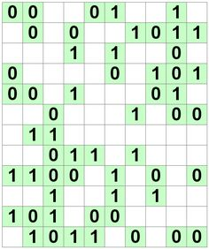 Number Logic Puzzles: 21449 - Binary size 4