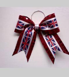 Union Jack Cheer Bow