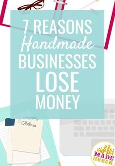 7 Reasons Handmade Businesses Lose Money - Made Urban - Handmade businesses tend to be really accommodating with their customers. Sometimes to the point they lose money and don't realize. Here's what to watch for to help avoid this. Etsy Business, Craft Business, Creative Business, Business Planning, Business Tips, Business Meme, Small Business License, Craft Font, Diy Crafts To Do