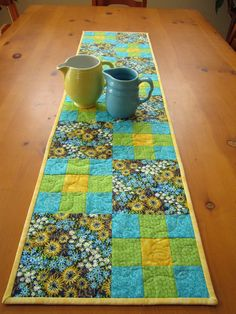 Quilted Table Runner Spring Floral