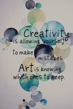 the difference between making mistakes and making art