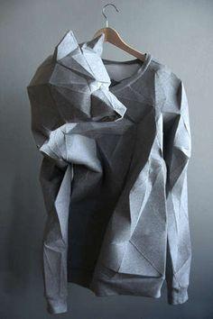 New origami fashion pattern wearable art Ideas Origami Fashion, 3d Fashion, Fashion Design, Fashion Styles, Trendy Fashion, Origami Vestidos, Mode Origami, Textile Manipulation, London Design Week
