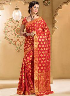Honoured Red Kanchipuram Silk Saree