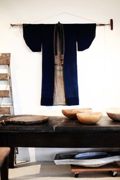 I'll probably have to do this someday in my forever-home: vintage kimono displayed! #scandinavian #japanese