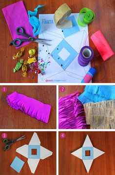 How to make a mini Pinata. Free template, easy instructions.