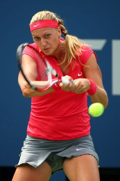 Petra Kvitova during her Match on Day2 of the 2013 US Open August 27-2013 #WTA #Kvitova #USOpen