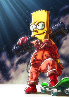 Bart Simpson New Horizons Cartoon Cartoon, Simpsons Cartoon, Dope Cartoon Art, Dope Cartoons, Trill Cartoon, Simpson Wallpaper Iphone, Cartoon Wallpaper, Graffiti Wallpaper Iphone, Bart Simpson