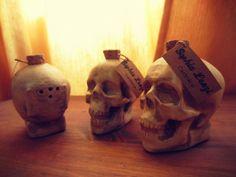 Ceramics piece - saltcellar. Skull by Sophia Lenzi