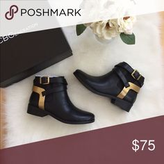 BCBGeneration boots 7.5 nwt Brand new boots still in original box. Black with gold hardware. Super cute and go with everything!! BCBGeneration Shoes Ankle Boots & Booties