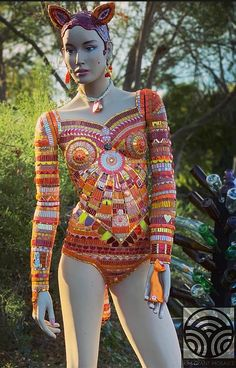 Gertrude by Kim Grant Mosaics - mosaic cat mannequin, 2019 Mosaic Art, Mosaic Glass, Mosaics, Mosaic Birdbath, Create Image, Tutu, Hand Carved, Sculpture, Tutus