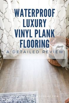 After living with our new floors for a couple of weeks Im sharing the pros and cons of choosing Luxury Vinyl Plank flo Waterproof Vinyl Plank Flooring, Luxury Vinyl Flooring, Luxury Vinyl Tile, Luxury Vinyl Plank, Engineered Hardwood Flooring, Hardwood Floors, Basement Inspiration, Basement Ideas, Affordable Home Decor