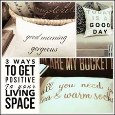 put POSITIVE in your living space with #IndigoFavs via http://lifeovereasy.com/ #decor #home