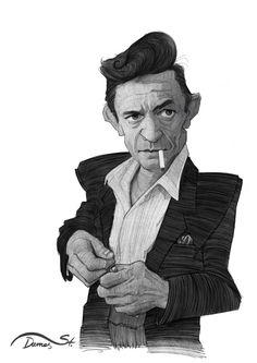 Johnny Cash by Stavros Damos, via Behance