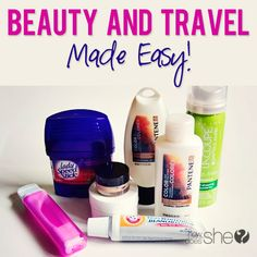 Erin shares some tips for packing your beauty products when traveling. Brilliant!