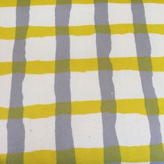 Hokkoh Open Weave Print Brushed Cotton Oxford Gray and Yellow