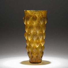 Lotus Bud Beaker (Getty Museum)  Roman, Eastern Mediterranean, 1st century A.D.   Mold-blown glass   8 3/8 in.