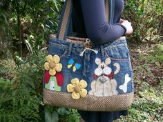 BOLSA C/ CALÇA JEANS (Vendida) by Patch & Quilt da Dany, via Flickr