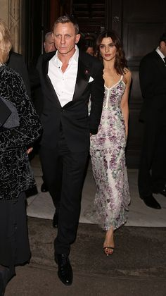 Daniel Craig and Rachel Weisz attending the 'Spectre' Premiere after party at the British Museum in London, England on (October 26, 2015)