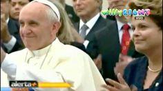 La llegada de Papa Francisco a Brasil por primera vez [COMPLETO] 22/07/13