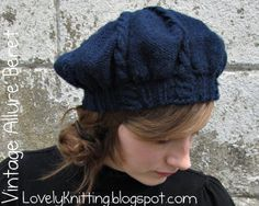 free hat pattern - knitting - beret for children to adult