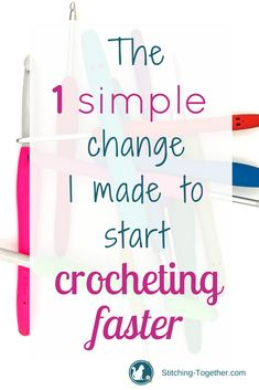 So you want to crochet faster with less fatigue? See the one SIMPLE change I made that has allowed me to crochet faster and longer. Perhaps it will be the key for you too! Beach Crochet, Crochet Home, Knit Or Crochet, Learn To Crochet, Free Crochet, Crochet Stitches For Beginners, Easy Crochet Patterns, Beginner Crochet, Crochet Projects