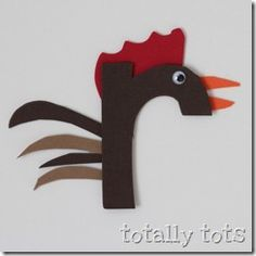 r is for rooster craft Big Red Barn craft