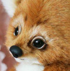 """WOW! Adorable fox Santiago Artist 9.2""""/24 cm Teddy  from Autumn Bears OOAK"""