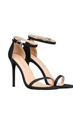 Black Stiletto Heels, Black High Heels, Dr Shoes, Shoes Heels, Ankle Strap Sandals, Strap Heels, Homecoming Shoes, Sexy Legs And Heels, Fashion Shoes