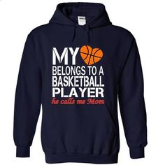 My heart belongs to a basketball player, he calls me mo - #shirt women #boyfriend sweatshirt. ORDER NOW => https://www.sunfrog.com/LifeStyle/My-heart-belongs-to-a-basketball-player-he-calls-me-mom-7421-NavyBlue-17523434-Hoodie.html?68278