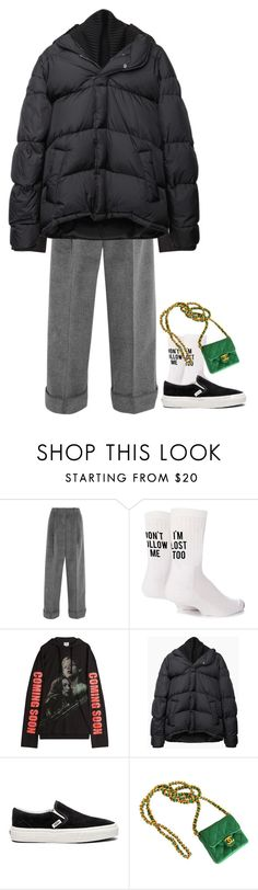 """reptile"" by m4r1n ❤ liked on Polyvore featuring Topshop Unique, Yeah Bunny, Vetements, Maison Margiela, Vans and Chanel"