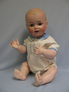 "HUGE 27"" Solid Dome Fat Cheek Kestner Character Baby All original, BLUE eyes eBay Image Hosting at www.auctiva.com"