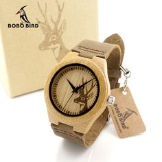 Cheap luxury brand, Buy Quality luxury wooden directly from China luxury luxury brand Suppliers: BOBO BIRD Brand Men Women Watches Bamboo Wood Famous Quartz Watch Luxury Wood Wristwatches Reloj Hombre luxury Wooden Case, Wooden Watch, Casual Watches, Watches For Men, Leather Box, Brown Leather, Quartz Watch, Luxury Branding, Carton Box