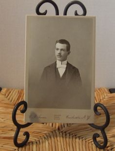 Vintage Handsome Young Man Photograph, 1900's Black & White Photograph, Antique Photograph, Edwardian Young Man, Handsome Victorian Man by BeautyMeetsTheEye on Etsy