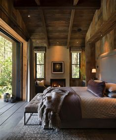 Rustic Bedroom by Jennifer Robin Interiors - Architecture and Home Decor - Bedroom - Bathroom - Kitchen And Living Room Interior Design Decorating Ideas - Farmhouse Style Bedrooms, Farmhouse Master Bedroom, Rustic Bedrooms, Woodsy Bedroom, Master Bedrooms, Master Suite, Quirky Bedroom, Aesthetic Bedroom, Modern Bedroom