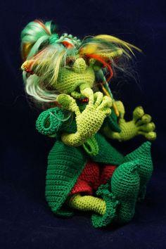 Крушина Моховна - кикимора - Завязландия - Галерея - Форум почитателей амигуруми (вязаной игрушки)