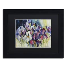 White Iris by Rita Auerbach Matted Framed Painting Print