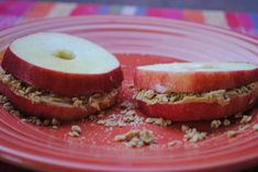 Apple PB & Granola Sandwich