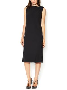 Wool Boatneck Shift from Designer Classic: The Little Black Dress on Gilt