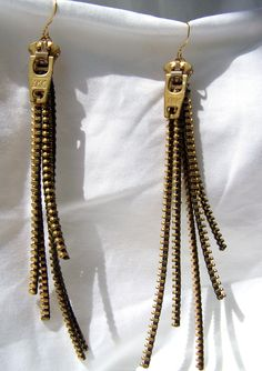Zipper Strand Earrings. $20.00, via Etsy.