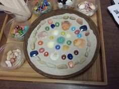 A creative way to work with kids and adults combining mindfulness, mandalas and sandtray therapy