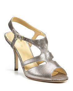 "Kate Spade new york ""Cove"" Evening Sandals--gold or silver with turquoise...that is the question!"