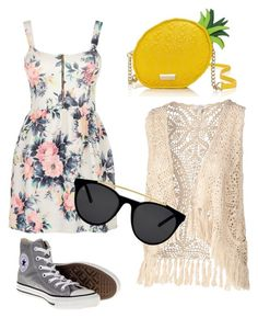 """Welcome summer. Make your day sunny like sun "" by thamiharoen on Polyvore featuring Cameo Rose, Fat Face, Converse, Kate Spade and Smoke & Mirrors"