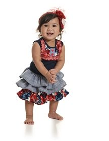 Baby by Persnickety Clothing Summer Celebration - Lou Lou Dress Blue