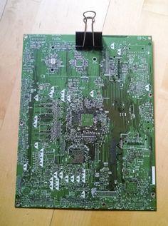 Circuit board repurposed into clipboard @ecoatm